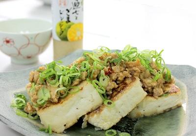 肉みそ豆腐ステーキ 写真